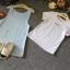 ชุดเอี๊ยม 2 ชิ้น เสื้อยืดสีขาว+เอี๊ยมสีฟ้า เซ็ทนี้ใส่แล้ว Match กันมากดูน่ารัก สวยเก๋ดูดีมีสไตล์มากค่ะ thumbnail 4