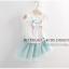 ชุดเซ็ทเสื้อสีขาว+กระโปรงสีฟ้า เป็นแนวเรียบๆ น่ารักสดใส แบบเข้าชุดงานสวยผ้าดีมากค่ะ thumbnail 2