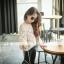 เสื้อไหมพรมถักแขนยาวคอกลมสีกากี แบบสวย ใส่กับกางเกงหรือกระโปรงน่ารักมากๆเลยค่ะ thumbnail 5