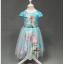 ชุดกระโปรงแขนตุ๊กตาสีฟ้า ลายเจ้าหญิง Frozen Elsa&Anna งานสวยใส่แล้วน่ารักมากค่ะ thumbnail 1