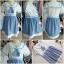 ชุดคลุมท้องสไตล์ญี่ปุ่นเสื้อสีขาวกระโปรงสีฟ้าเป็นชุดต่อกันค่ะ น่ารักมากค่ะชุดนี้ thumbnail 5