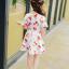 ชุดเดรสสาวน้อยสีขาว ลายลูกเชอร์รี่สีแดง ซิบด้านหลัง น่ารักสดใสมากค่ะ thumbnail 6