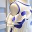 เดรสกระโปรงสีขาวแขนกุด ซิปหลัง ลายวงกลมสีน้ำเงิน ใส่สบายน่ารักมากค่ะ thumbnail 5