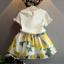 ชุดเซ็ทน่ารัก เสื้อสีขาว Lemon มาพร้อมกระโปรงเอวยางยืด ใส่เข้าชุดกันน่ารักสุดๆค่ะ thumbnail 2