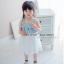 เดรสเด็กผู้หญิง เสื้อแขนกุดสีฟ้า หน้าแมว ต่อด้วยกระโปรงพองฟูสีขาว งานสวยเหมือนแบบ ผ้าดีใส่แล้วสวยค่ะ thumbnail 2