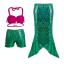 ชุดว่ายน้ำนางเงือก (3ชิ้น) เสื้อ,กางกางขาสั้น,กระโปรงหางนางเงือกสีเขียว ใส่แล้วน่ารักสุดๆค่ะ thumbnail 2