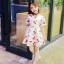 ชุดเดรสสาวน้อยสีขาว ลายลูกเชอร์รี่สีแดง ซิบด้านหลัง น่ารักสดใสมากค่ะ thumbnail 3