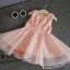 ชุดเดรสกระโปรงผ้าลูกไม้สีชมพู ชุดนี้ใส่แล้วสวยดูหวานน่ารัก ใส่ไปเที่ยวหรืออกงานก็น่ารักค่ะ thumbnail 2