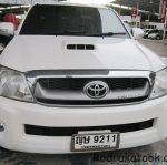 รถกระบะมือสอง รถราคาถูก ยี่ห้อ Toyota (ไฮลัก วีโก้) รุ่น Hilux Vigo Double Cab สีขาว ปี 2011 ขนาดเครื่อง 3.0 ดีเซล ระบบเกียร์ M/T (เกียร์กระปุก) #UC114
