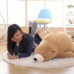 ตุ๊กตาหมีขั้วโลก รุ่นใยนิ่ม ขนาดวัดจากจมูก-ขาหลัง110cm