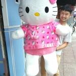 ตุ๊กตาคิตตี้รุ่นใส่เสื้อสีเข้ม ขนาดวัดจากปลายหู-ขา 130cm ไซส์XL
