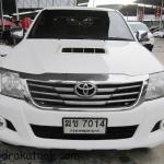 รถกระบะมือสอง รถราคาถูก ยี่ห้อ Toyota (ไฮลัก วีโก้) รุ่น Hilux Vigo Double Cab สีขาว ปี 2010 ขนาดเครื่อง 2.5 ระบบเกียร์ M/T (เกียร์กระปุก) #UC111