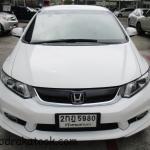 รถเก๋ง รถมือสอง รถราคาถูก ยี่ห้อ Honda (ฮอนด้า ซีวิค) รุ่น Civic สีขาว ปี 2013 ขนาดเครื่อง 1.8 i-VTEC ระบบเกียร์ A/T (ออโต้) #UC106