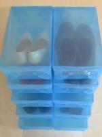 """กล่องอเนกประสงค์แบบเปิดฝาบน ใส่ได้สูงสุดไซส์ 46 สีน้ำเงิน """"Big Size"""" (10 กล่อง)"""
