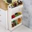 SECEN ชั้นวางของในที่แคบมีล้อเลื่อน วางไว้ในครัว วางไว้ในห้องน้ำ-3ชั้น (สีขาว) thumbnail 3