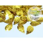 เลื่อมใบไม้ สีทอง (1 ถุง ประมาณ 180 ใบ)