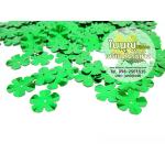 เลื่อมใบไม้ 5 แฉก ใหญ่ สีเขียว ทำมะเขือเทศ (1 ถุง ประมาณ 160 ใบ)