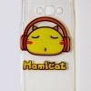 เคสซิลิโคน Samsung galaxy J7 ลายแมวใสหูฟัง