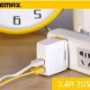 ที่ชาร์จไฟ Remax Charger 3.4A USB 2 ช่อง