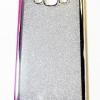 เคสซิลิโคน Samsung galaxy A8 กรอบเงิน กากเพชร