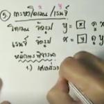 คอร์สติวสอบคณิตO-NETสรุปเนื้อหา ความสัมพันธ์และฟังก์ชัน