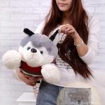 ตุ๊กตาสุนัขไซบีเรียน ขนนุ่ม ขนาดวัดจากจมูก-หาง60cm