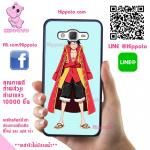 เคสราชาโจรสลัดลูฟี่ One Piece วันพีช เคสโทรศัพท์ ซัมซุง J7 2016 ยางซิลิโคน สีดำ