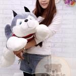 ตุ๊กตาสุนัขไซบีเรียน ขนนุ่ม ขนาดวัดจากจมูก-หาง90cm