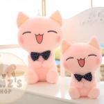 ตุ๊กตาแมวสีชมพู ขนนุ่ม กอดสบาย ขนาดวัดจากฐาน-ปลายหู50cm