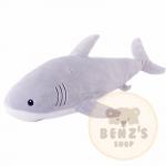 ตุ๊กตาปลาฉลาม รุ่นขนนุ่มพิเศษ เนื้อใยสังเคราะห์รุ่นใหม่ ขนาดวัดจากปลายจมูก-ปลายหาง50cm