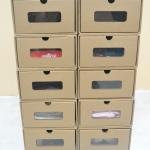 กล่องอเนกประสงค์ มีความแข็งแรง สามารถใส่รองเท้าถึงเบอร์ 40 หนังสือการ์ตูน เสื้อผ้า (10 กล่อง) *Small Size*