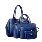 กระเป๋า PU set 5 ใบ (สีน้ำเงิน)