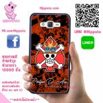 โปโตกัส ดี เอส โลโก้โจรสลัด One Piece วันพีช เคสโทรศัพท์ ซัมซุง J7 2016 ยางซิลิโคน สีดำ