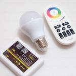 หลอด LED อัจฉริยะ เปลี่ยนสีได้ ปรับความสว่างได้ มีโหมดไฟหลายแบบ เปิดปิด คววบคุมผ่านรีโมท และสมาร์ทโฟนได้