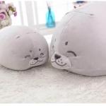 ตุ๊กตาแมวน้ำรุ่นตัวกลม ขนนุ่มลื่นไม่ล่วง ไม่อมฝุ่น ขนาดวัดจากจมูก-ขาหลัง50cm