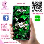 เคสโซโร โลโก้โจรสลัด One Piece วันพีช เคสโทรศัพท์ ซัมซุง J7 2016 ยางซิลิโคน สีดำ