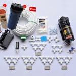 ชุด DIY 25 หัวพ่น ปั๊ม 5.0 Lpm หัวก้านเสียบ 0.2 mm แถมทามเมอร์ + โซลินอยด์วาล์ว24V + ชุดกระบอกกรอง