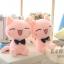 ตุ๊กตาแมวสีชมพู ขนนุ่ม กอดสบาย ขนาดวัดจากฐาน-ปลายหู30cm thumbnail 1