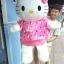 ตุ๊กตาคิตตี้รุ่นใส่เสื้อสีเข้ม ขนาดวัดจากปลายหู-ขา 130cm ไซส์XL thumbnail 1