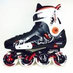 รองเท้าสเก็ต rollerblade แบบสลาลม รุ่น MLB สีดำ-ขาว Fixed Size 42,43, 45
