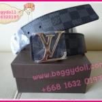 Louis Vuitton Damier Graphite Canvas Belt **เกรดท๊อปพรีเมี่ยม**