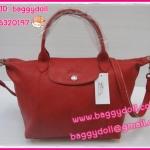 Longchamp Cuir หนังด้าน มี 4 ไซด์ S,M,L,XL สีแดง **เกรดท๊อปมิลเลอร์** (Hi-End)