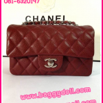 "Chanel Classic Flap Bags Caviar Leather Silver Hardware 8"" **เกรดท๊อปมิลเลอร์** (Hi-End)"