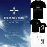 เสื้อแฟชั่นเกาหลี เสื้อยืนสกรีนลาย #BTS THE WINGS TOUR -ระบุสี ชื่อศิลปิน ที่ช่องหมายเหตุ-