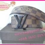 Louis Vuitton Damier Canvas Belt **เกรดท๊อปพรีเมี่ยม**