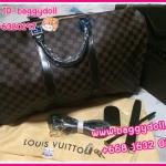 Louis Vuitton Damier Ebony Canvas Keepall 45,50,55 **เกรดท๊อปมิลเลอร์** (Hi-End)