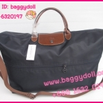 Longchamp Le Pliage Travel bag กระเป๋าเดินทางสีดำ **เกรดท๊อปมิลเลอร์** (Hi-End)