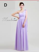 พร้อมเช่า ชุุดราตรียาว ชุดเพื่อนเจ้าสาว สีม่วงอ่อน Lavender Lv-002D