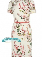 Pre-order ชุดเดรส แขนสั้น ลายดอกซากุระ สวยหวาน Sherry Blossom