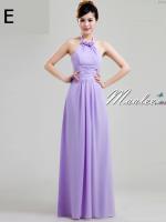 พร้อมเช่า ชุดราตรียาว ชุดเพื่อนเจ้าสาว สีม่วงอ่อน Lavender Lv-002E